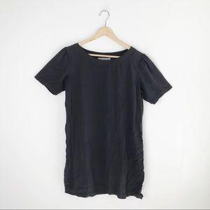 Novella Royale Charcoal Gray Basic Mini Dress S